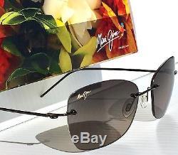 NEW Maui Jim APAPANE Rimless w Grey POLARIZED Lens Women's Sunglass GS717-02d