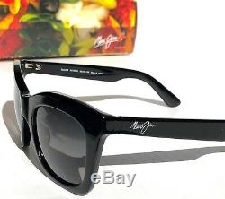 NEW Maui Jim Coco Palm in BLACK w Polarized Grey Women Sunglass GS720-02