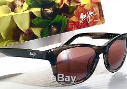 NEW Maui Jim KA'A POINT Grey Woodgrain POLARIZED ROSE Women's Sunglass R713-27