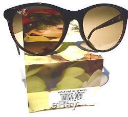 NEW Maui Jim MANNIKIN Brown Stripe POLARIZED Bronze Women's Sunglass HS704-26S