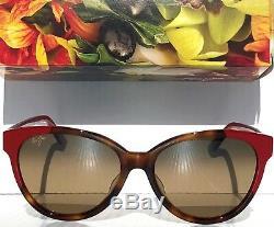 NEW Maui Jim SUNSHINE Red Tortoise POLARIZED Bronze Women's Sunglass HS725-66