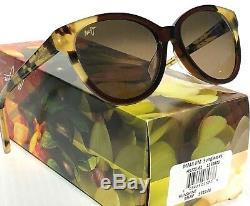 NEW Maui Jim SUNSHINE Root Beer Tokyo POLARIZED Bronze Womens Sunglass HS725-62