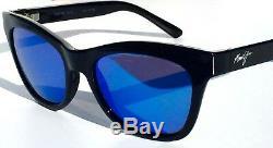 NEW Maui Jim SWEET LEILANI Black w POLARIZED Blue Women's Sunglass B722-02