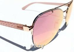 NEW Michael Kors Barcelona Pink Rose Gold Mirror Aviator Womens Sunglass MK1048