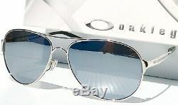 NEW Oakley CAVEAT Silver POLARIZED Chrome Mirror Women's Aviator Sunglass 4054