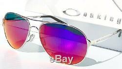 NEW Oakley CAVEAT Silver POLARIZED Purple Womens 60mm Aviator Sunglass 4054