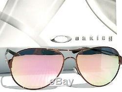 NEW Oakley Caveat POLARIZED Rose Gold 60mm Aviator Brunette Womens Sunglass 4054