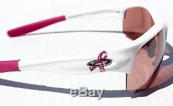 NEW Oakley Commit SQ Breast Cancer White w G30 Black Iridium Women's Sunglass