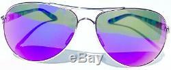 NEW Oakley FEEDBACK Aviator Chrome POLARIZED Galaxy Violet Womens Sunglass 4079