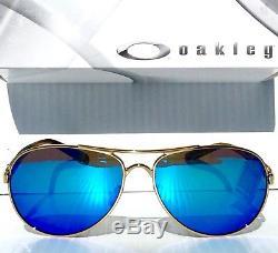 228e5e19a7 New Oakley Feedback Gold Aviator Polarized Sapphire Women s Sunglass 4079-59
