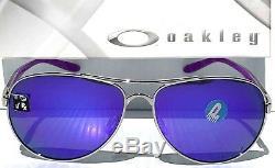 NEW Oakley FEEDBACK SILVER Aviator POLARIZED Violet Womens Sunglass 4079-23