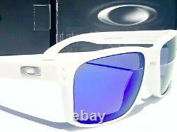NEW Oakley HOLBROOK Matte White POLARIZED Galaxy Blue lenses Sunglass 9102