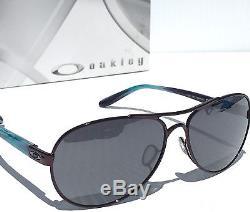 NEW Oakley TIE BREAKER Aviator Blackberry Women's Black Irid Sunglass 4108-05