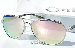 NEW Oakley TIE BREAKER Rose Gold AVIATOR POLARIZED Galaxy Women's Sunglass 4108