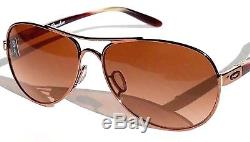 NEW Oakley TIE BREAKER Rose Gold AVIATOR w Brown Lens Women's Sunglass 4108-08