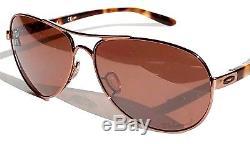 NEW Oakley TIE BREAKER Rose Gold AVIATOR w POLARIZED Women's Sunglass 4108