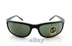 NEW RAY-BAN Sunglasses Predator 2 Matte Black G-15 Glass Lens Wrap RB 2027 W3327
