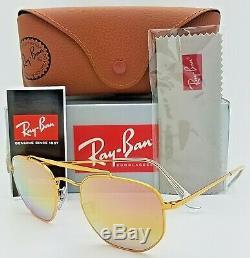NEW Rayban Marshal sunglasses RB3648 9001/I1 Bronze Pink Gradient Mirror 3648