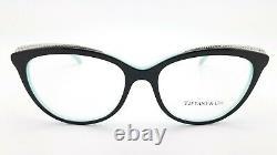 NEW Tiffany & Co. Frame RX Glasses TF2147B 8055 54mm Black Tiffany Blue GENUINE