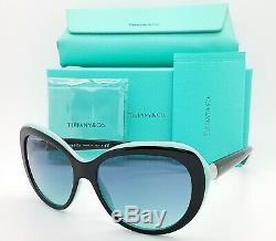 NEW Tiffany & Co. Sunglasses TF4122 80559S 56mm Black Blue Gradient AUTHENTIC