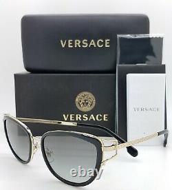 NEW Versace sunglasses Medusa VE2203 143811 53mm Grey Gradient AUTHENTIC Women's