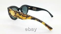 NEW Versace sunglasses VE4353 528387 51mm Baroque Yellow Grey AUTHENTIC Cat Eye