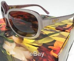 NEW womens Maui Jim Rainbow Falls Polarized White Pearl HCL Polarize Sunglasses