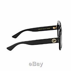 New Authentic Gucci GG0036S 001 Black Plastic Sunglasses Grey Gradient Lens