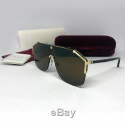 New Authentic Gucci GG0291S 002 Gold Havana Brown Sunglasses Eyewear Women Men