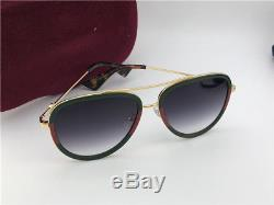 New Authentic Gucci Sunglasses GG0062S 003 Gold/Green Gradient Lens 57mm