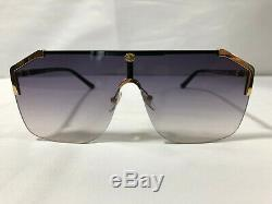 New Authentic Gucci Sunglasses GG0291S Women's Gold Frames Smoke Gray Lens