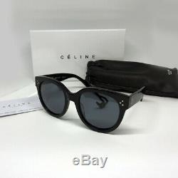 New CELINE AUDREY CL 41755/S (807/3H) Polarized Black Gray Sunglasses Women