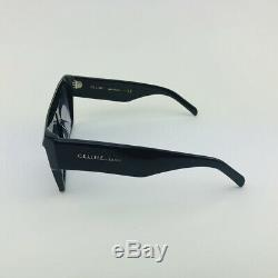 New CELINE CL40030F Black Gray Square Rectangular Sunglasses Eyewear Women