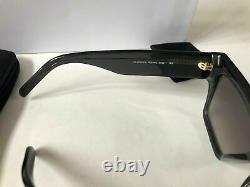 New CELINE CL40030S Gray Acetate Square Rectangular Sunglasses 100% Authentic