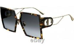New Christian Dior 30 Montaigne Epz Red Havana Gold Authentic Sunglasses 58-15