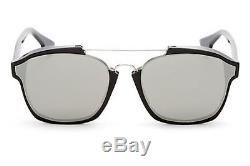 New Christian Dior ABSTRACT 807/0T black/silver mirror Sunglasses