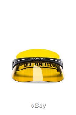 New Christian Dior Club 1 Visor Otl Black/yellow Authentic Designer Sunglasses