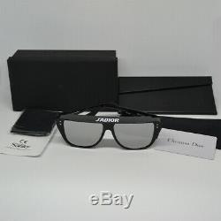 New Christian Dior DIORCLUB 2 JADIOR Black Silver Sunglasses Eyewear Women Club