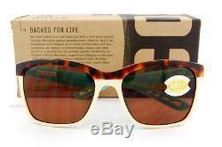 New Costa Del Mar Fishing Sunglasses ANAA Tortoise/Cream Copper 580P POLARIZED