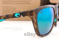New Costa Del Mar Sunglasses CHEECA Matte Shadow Tortoise/Green Mirror 580P