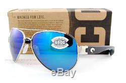 New Costa Del Mar Sunglasses SOUTH POINT Palladium Blue Mirror 580G POLARIZED