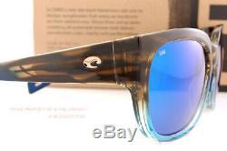 New Costa Del Mar Sunglasses WATERWOMAN 2 Shiny Wahoo Blue Mirror 580G Polarized