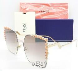 New Fendi sunglasses FF0259/S 35J 52mm Gold Brown Gradient AUTHENTIC Square 0259
