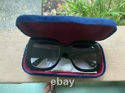 New Gucci GG0083S Authentic Oversized Square Black Women Sunglasses