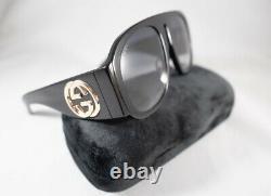 New Gucci GG0152S 002 Black / green Women Acetate Oversized Eyewear Sunglasses