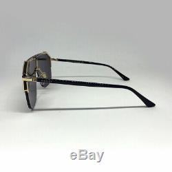 New Gucci GG0291S Black Gold Gray Sunglasses Eyewear Men Women