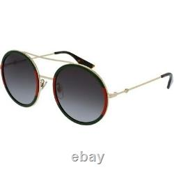 New Gucci Gold Frame Green/Red Gradient Lens Women's Sunglasses GG0061S-003