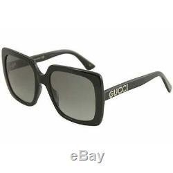 New Gucci Grey Square Women's Sunglasses GG0418S-001