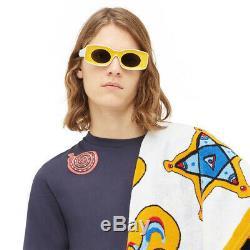 New LOEWE LW40033I Paulas Ibiza White Yellow Gray Eyewear Sunglasses Men Women