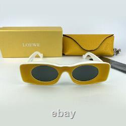 New LOEWE Paulas Ibiza LW40033I Yellow White Gray Sunglasses Eyewear Men Women